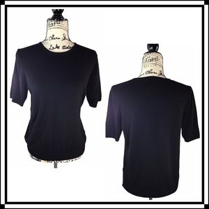 H&M Basics Fine Knit Short Sleeve Top - M